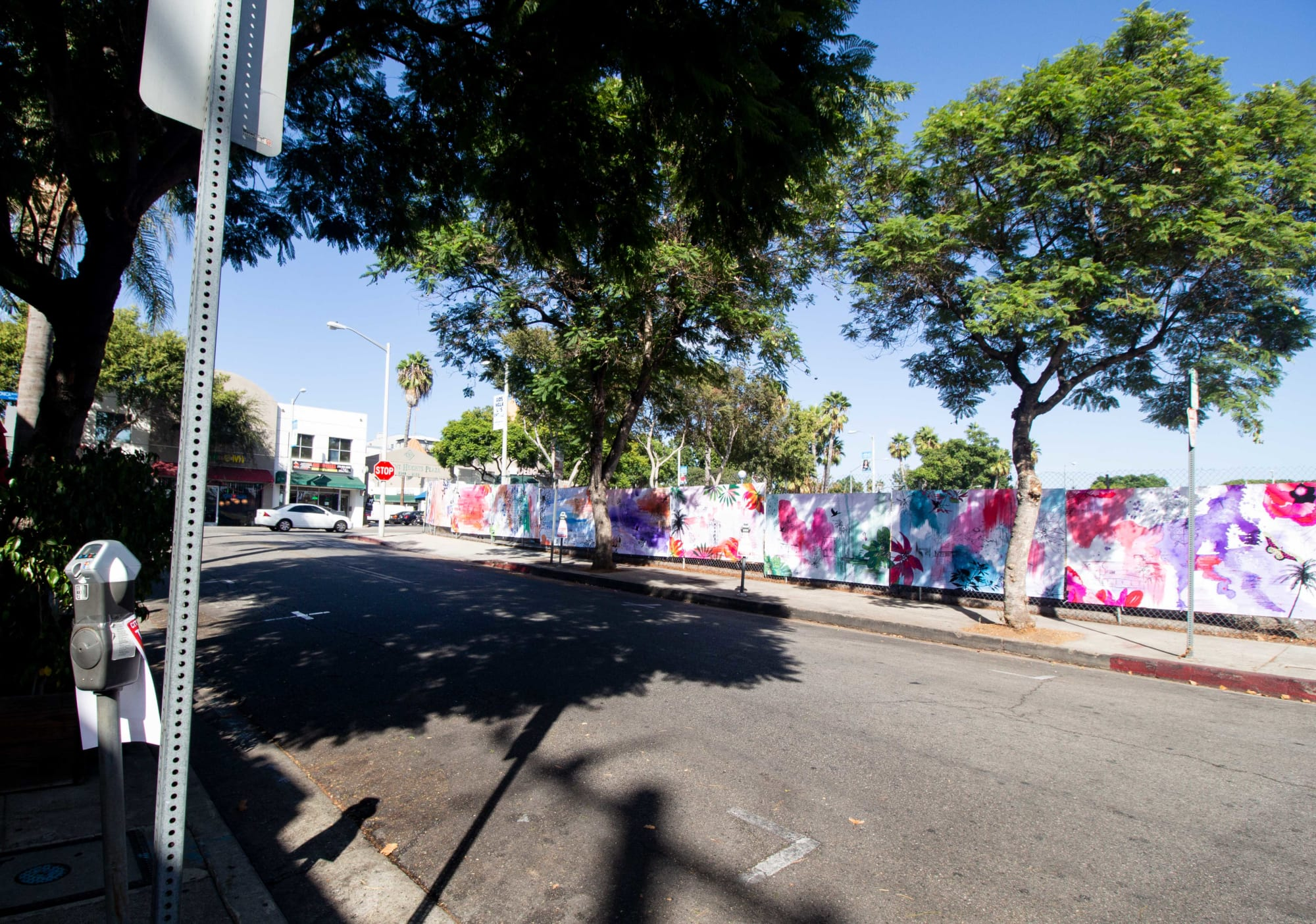 Street Murals by Welcome to the Brightside seen at 8120 Santa Monica Blvd, West Hollywood - Turret Affair