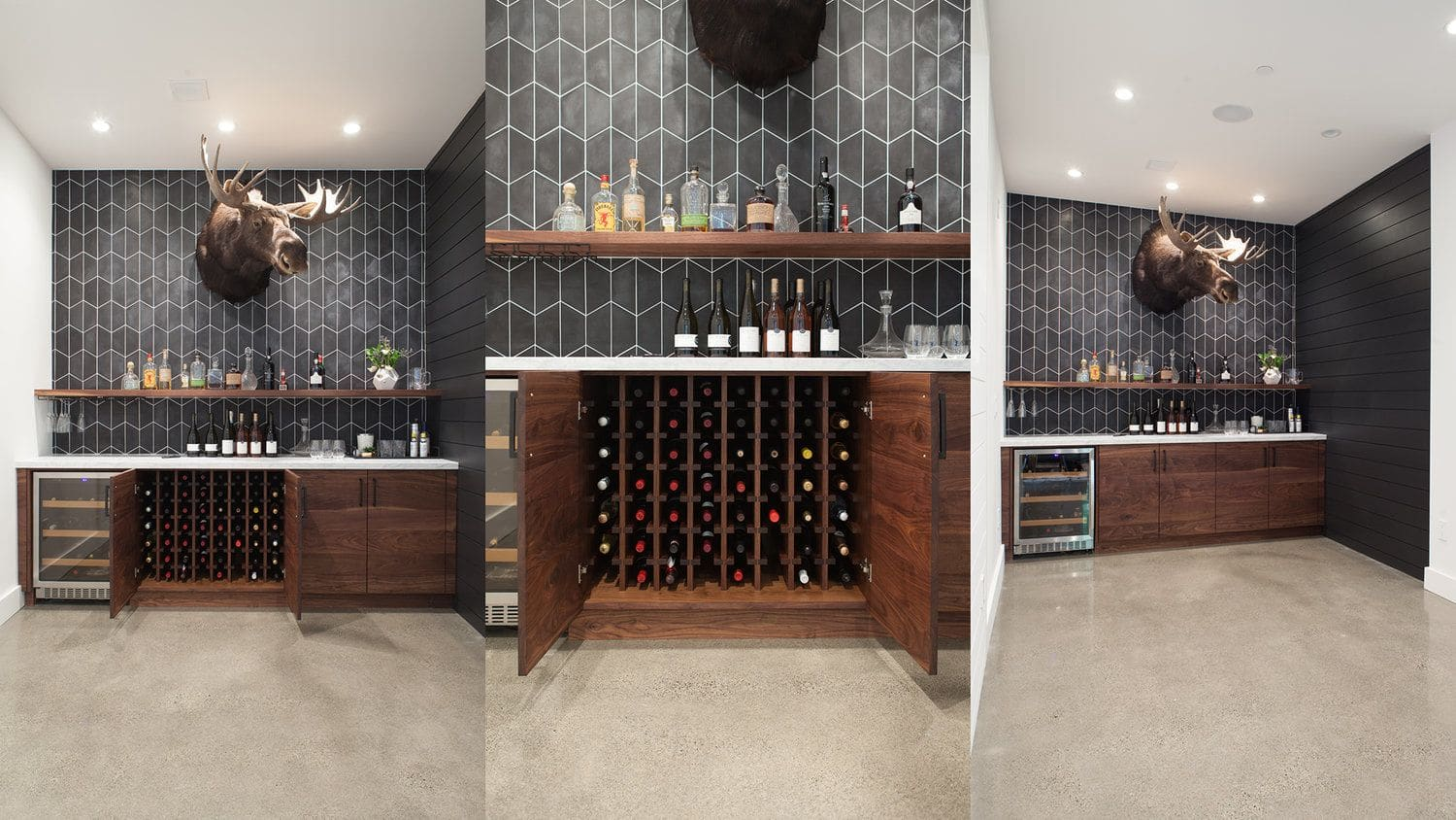 Furniture by FineRoot seen at Private Residence, Marin County - Custom Bar and Niche