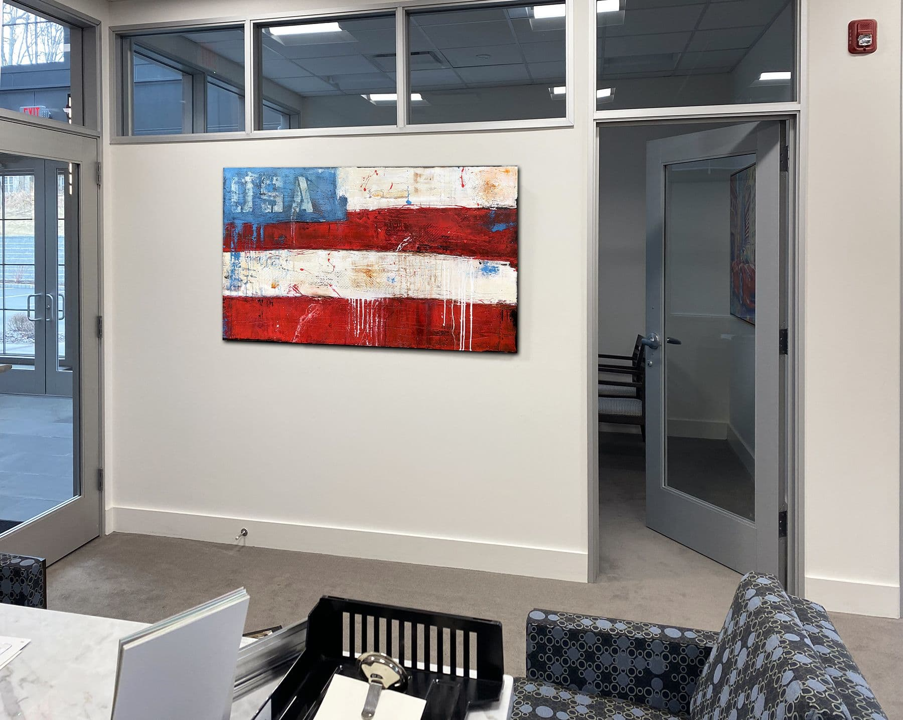 Paintings by ERIN ASHLEY seen at Milford, Milford - Paintings created for Investment Advisors office