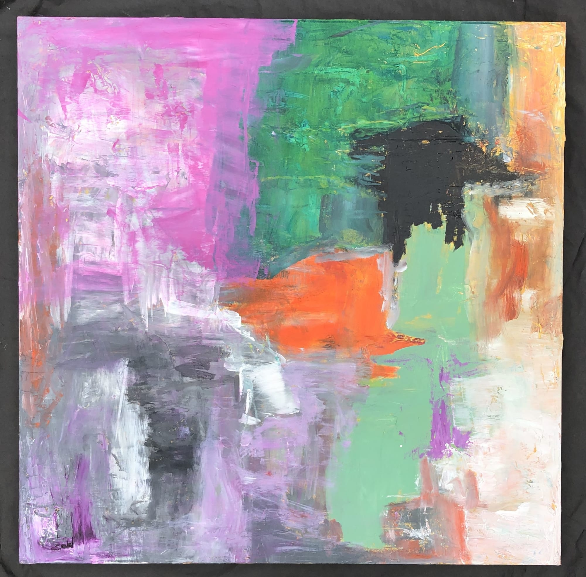 Bright abstract multicolor painting