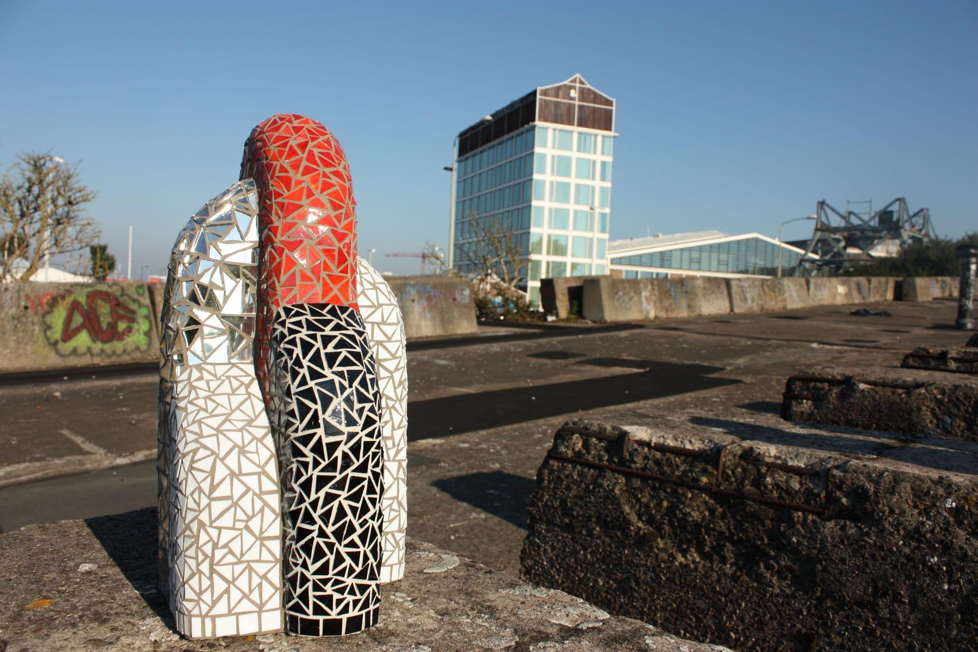Sculptures by Peter Vial seen at Amsterdam-Zuidoost, Amsterdam - 'REFLECTIONS'
