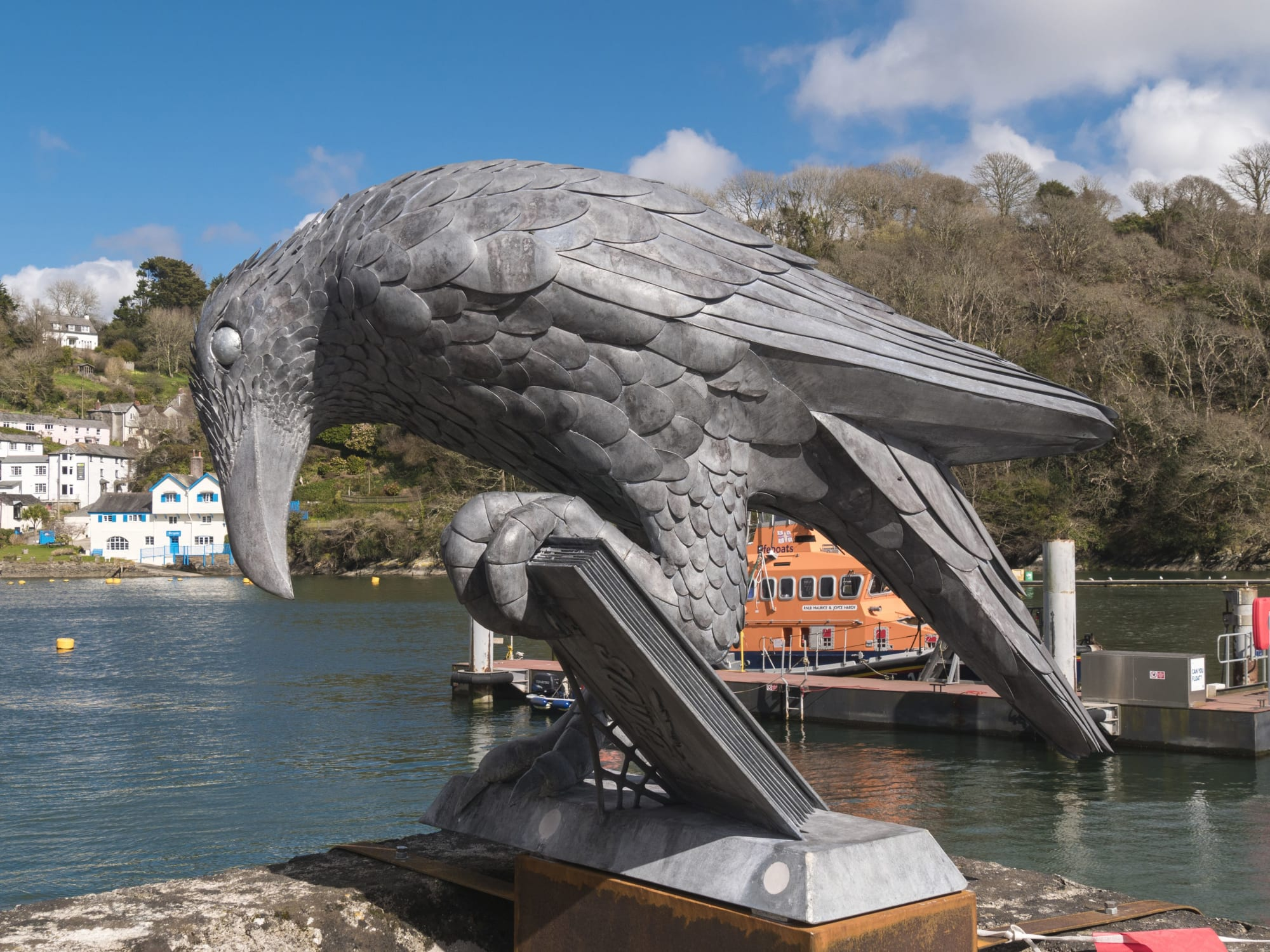 Rook With A Book Sculpture By Thrussells Seen At Fowey Fowey Wescover