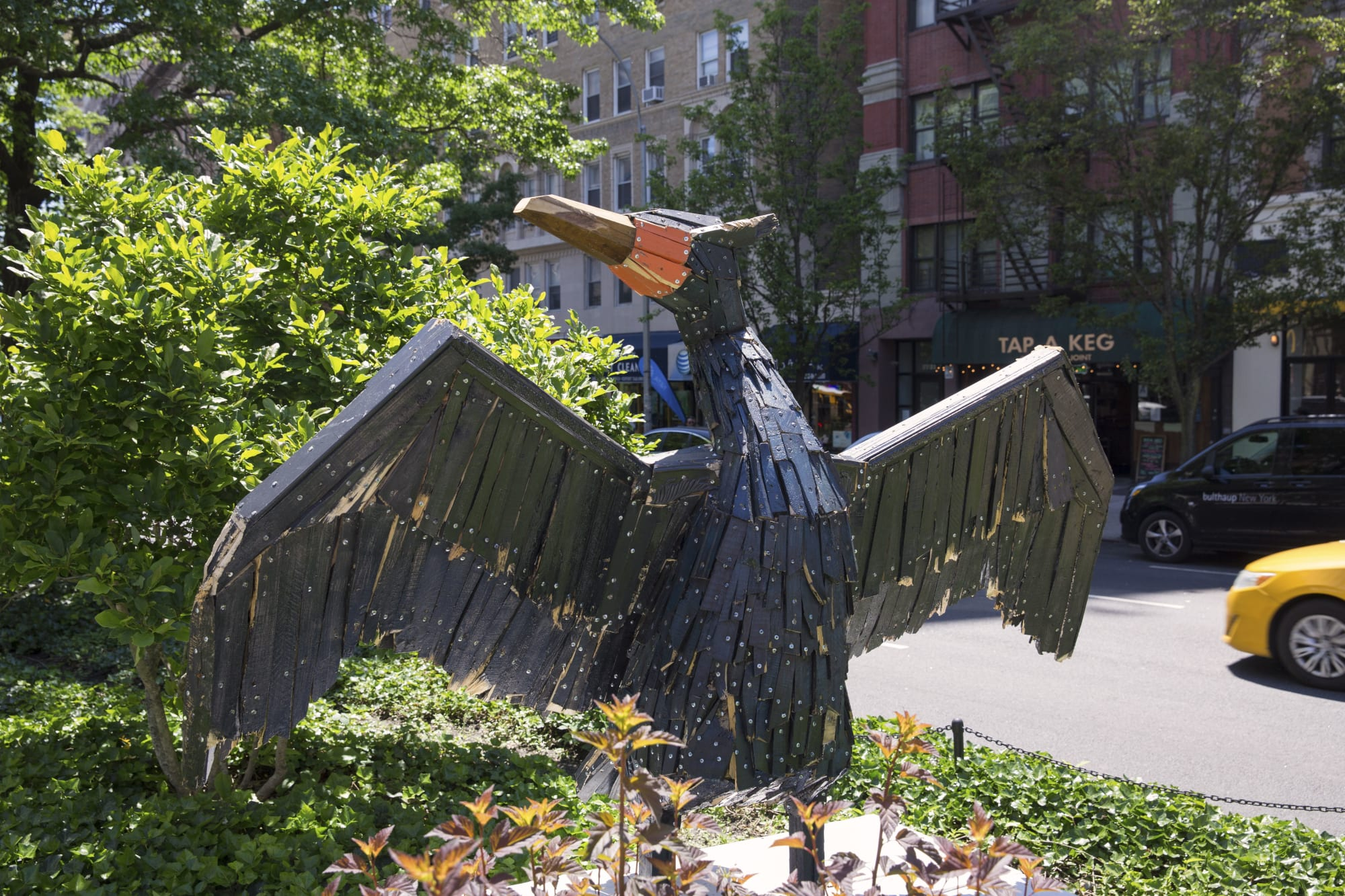 Public Sculptures by Nicolas Holiber seen at Broadway/West 105 St, New York - Double-Crested Cormorant