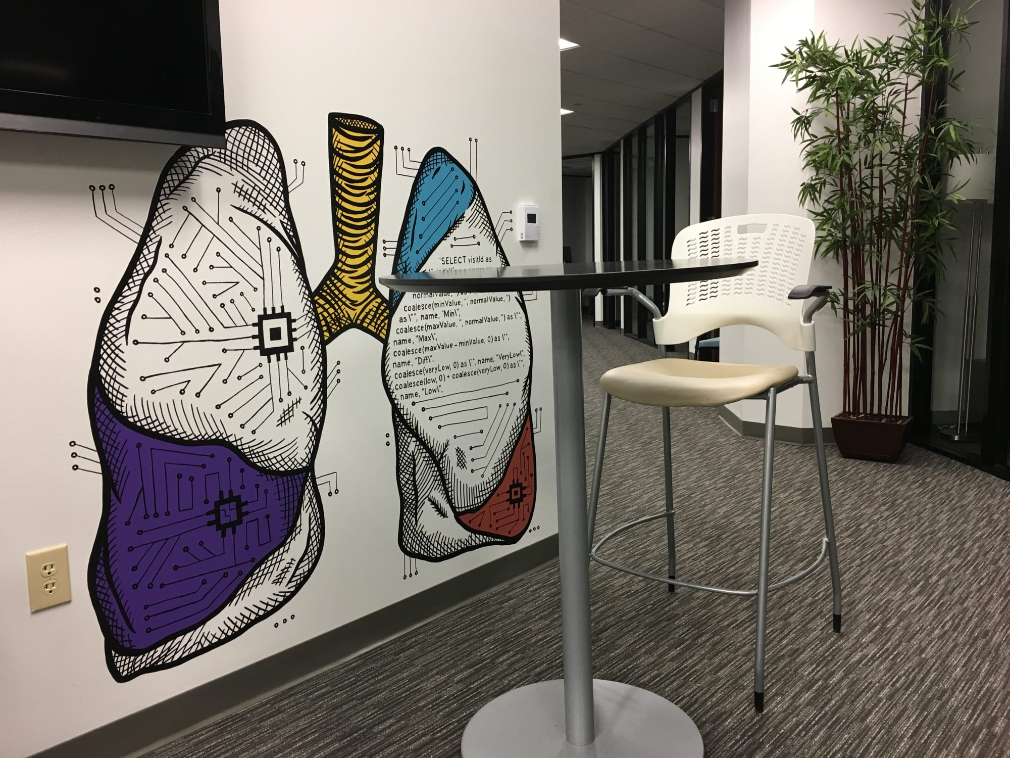Murals by Avery Orendorf seen at Iodine Software LLC, Austin - Software for Your Health