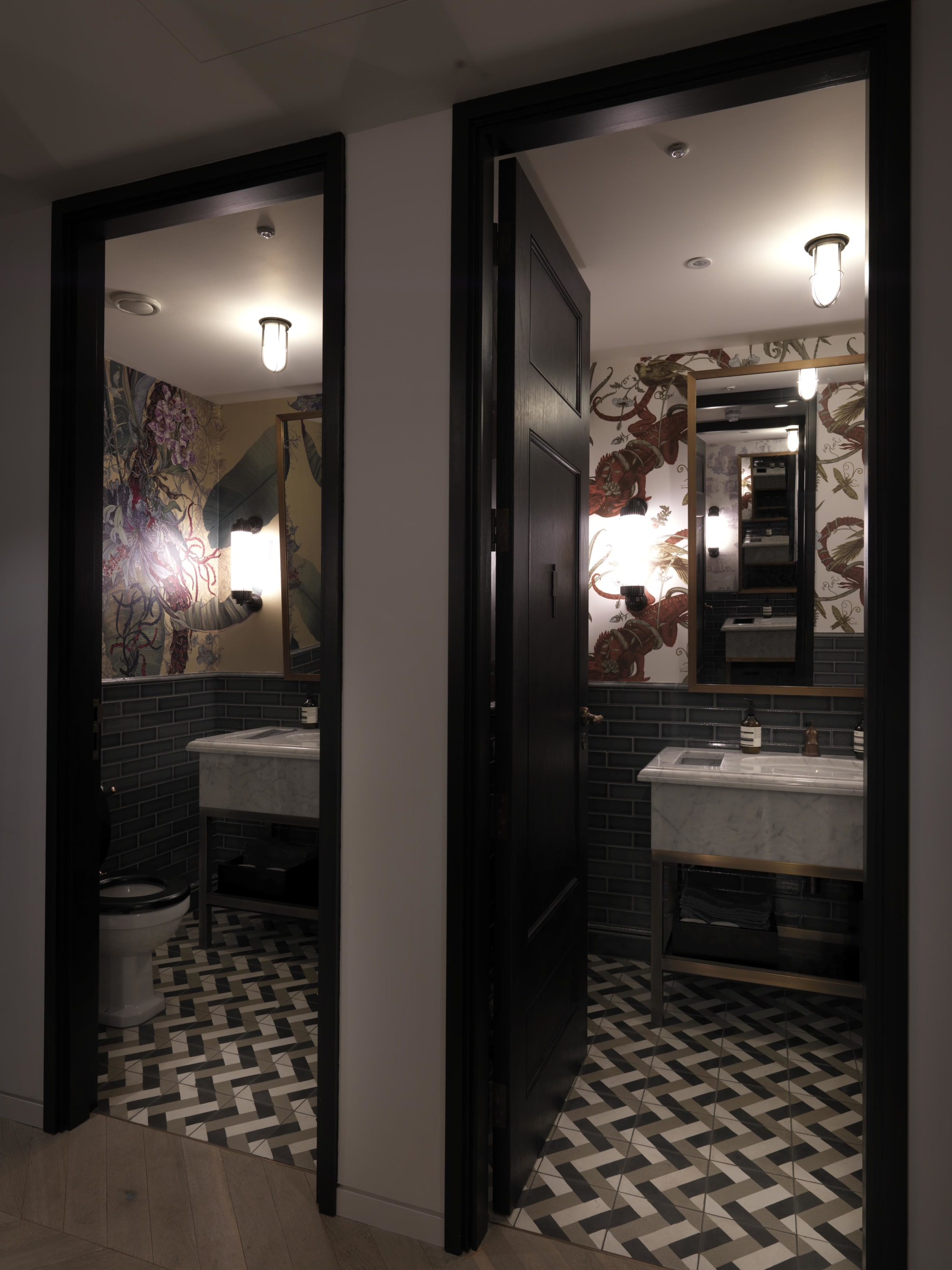 Tiles by Otto Tiles And Design seen at Artemis Investment Management, London - Hand Made Walls and Floors Tiles