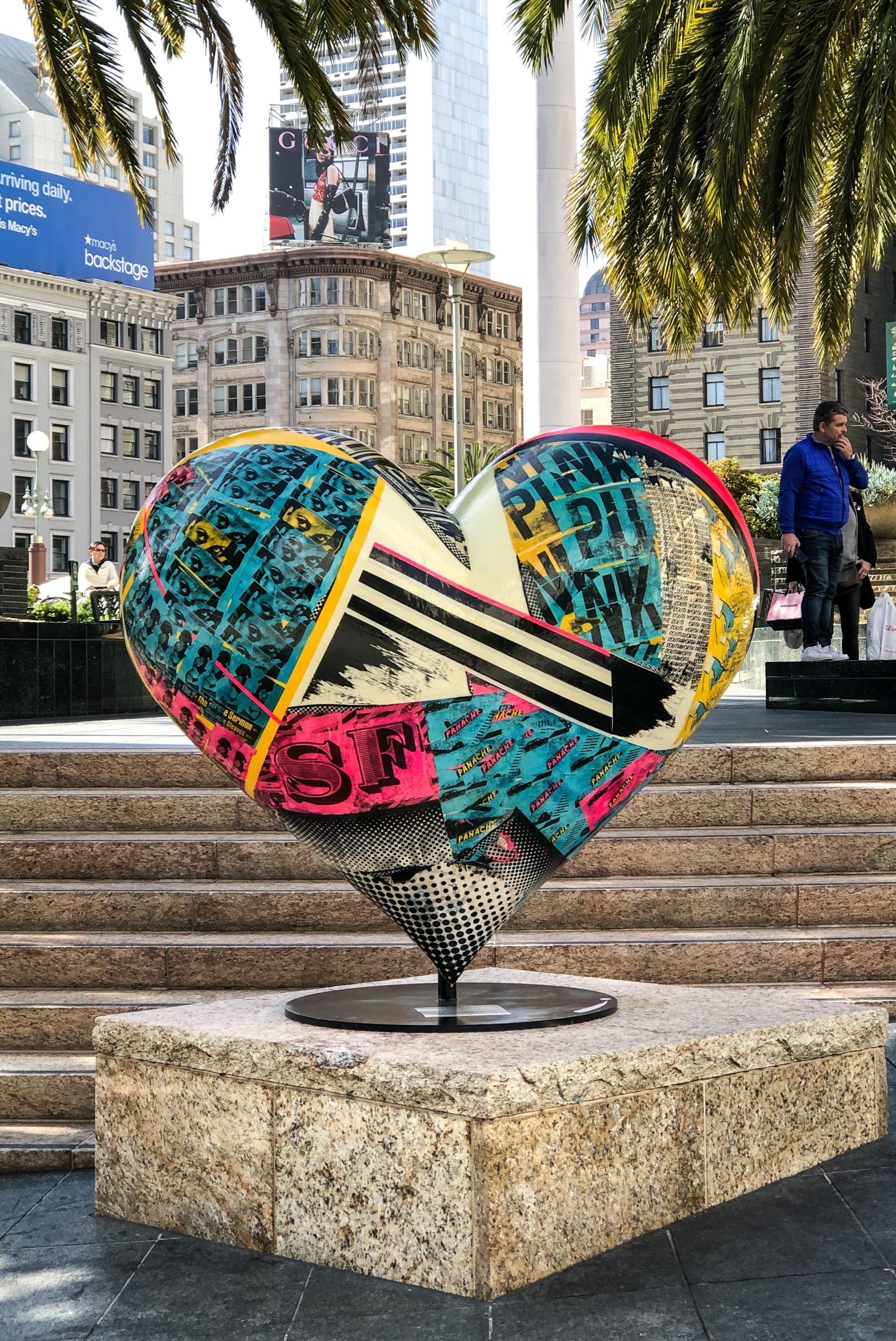 Outdoor Colorful Heart Sculpture