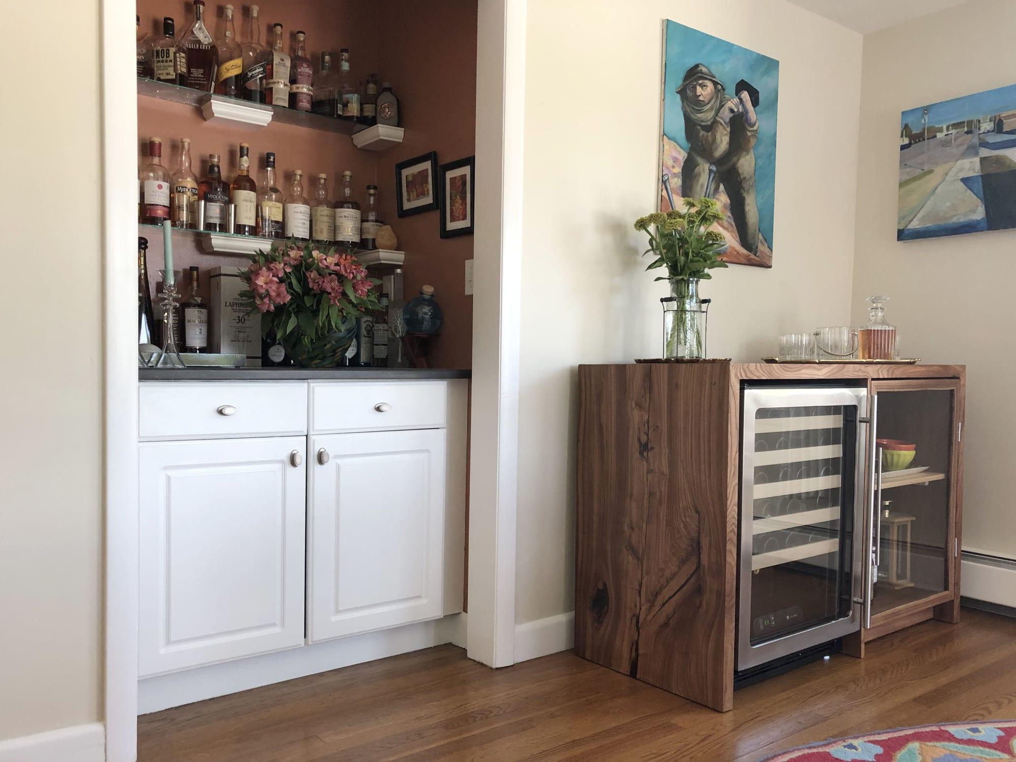 Custom woodwork liquor cabinet