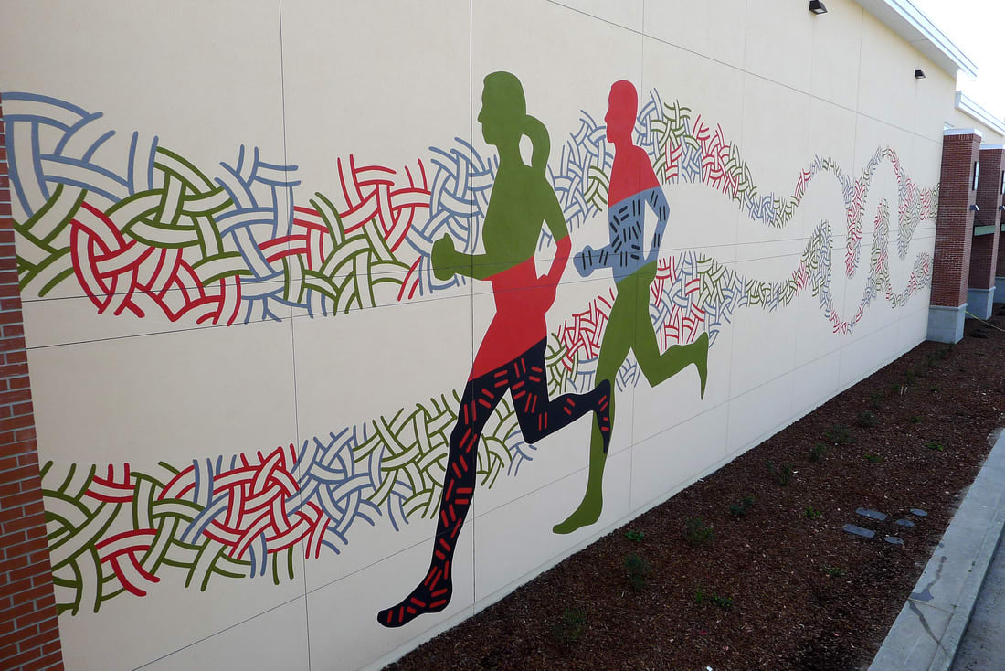 Street Murals by Martin Webb seen at DICK'S Sporting Goods, Santa Rosa - Sports Mural