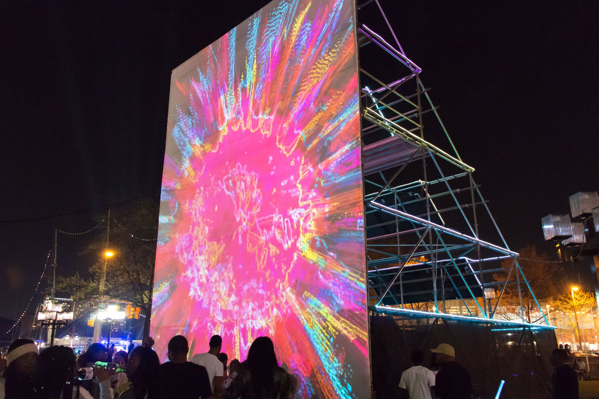 Public Art by Graham Projects seen at McKeldin Square, Baltimore - Sun Stomp