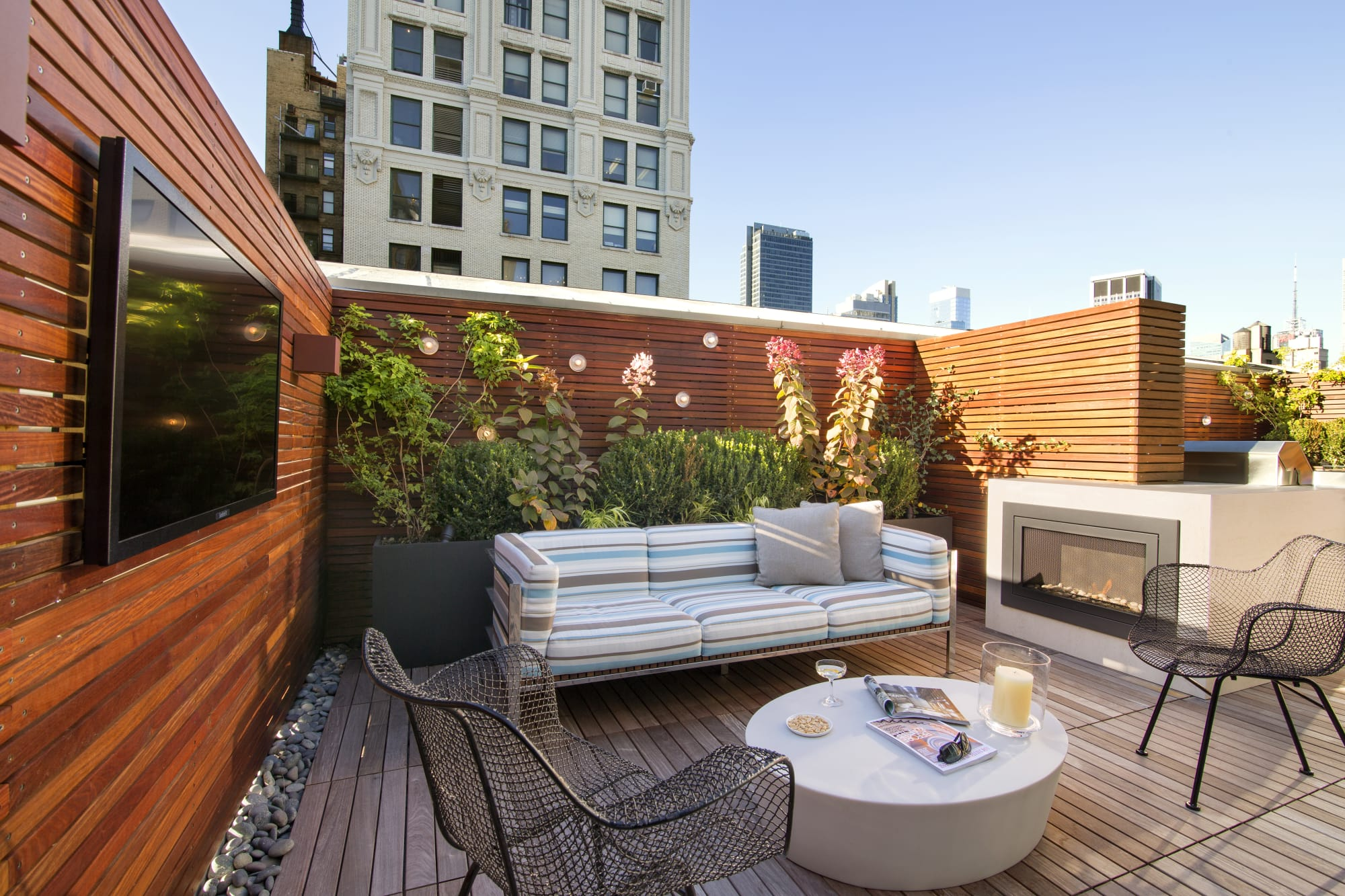 Interior Design by Michael Wood Interiors seen at New York, New York - Fifth Avenue Terrace
