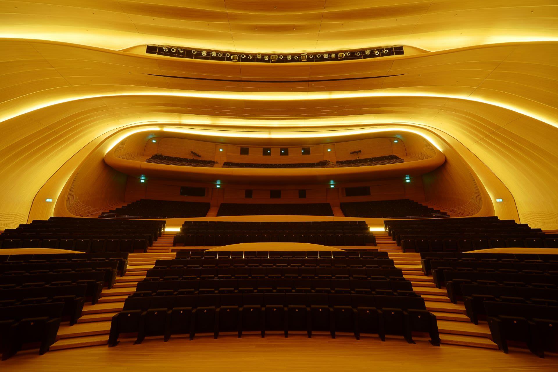 Interior Design by Mikodam Design seen at Heydar Aliyev Centre, Bakı - Heydar Aliyev Center Auditorium, Acoustic Design