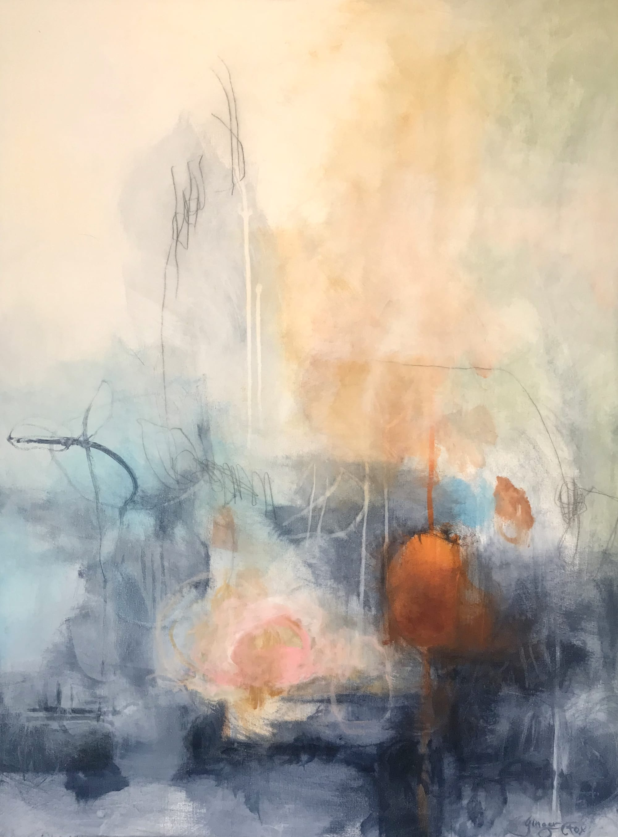Paintings by Ginger Fox Gallery seen at Ginger Fox Gallery, Dallas - Expressive Abstracts