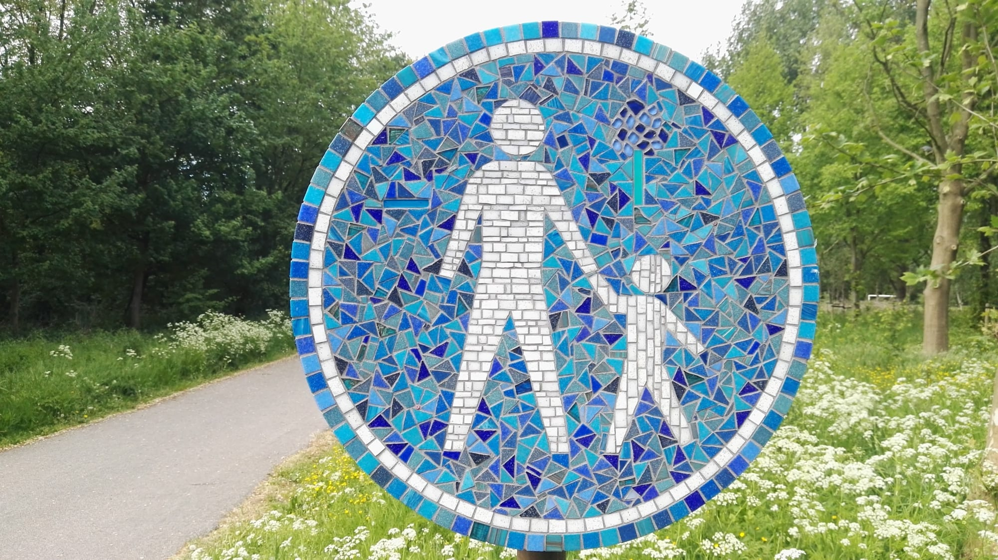 Public Mosaics by Peter Vial seen at Bijlmerweide, Amsterdam - Footpath