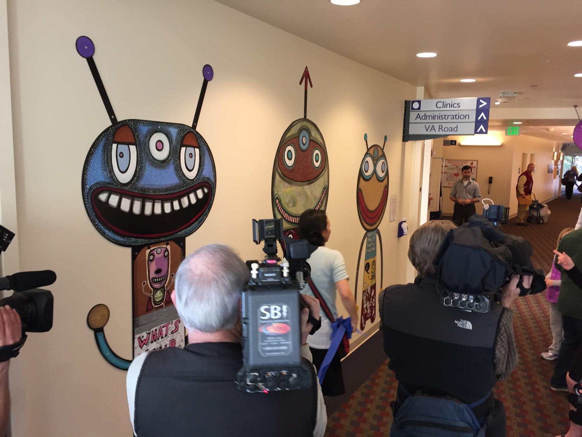 Murals by Gary Hirsch (botjoy) seen at OHSU Doernbecher Children's Hospital, Portland - Doernbecher Children's Hospital Oncology Mural