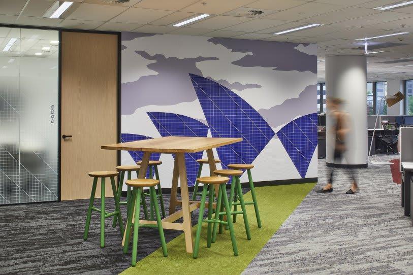 Interior Design by HOT BLACK at OpenText, North Sydney - Interior design