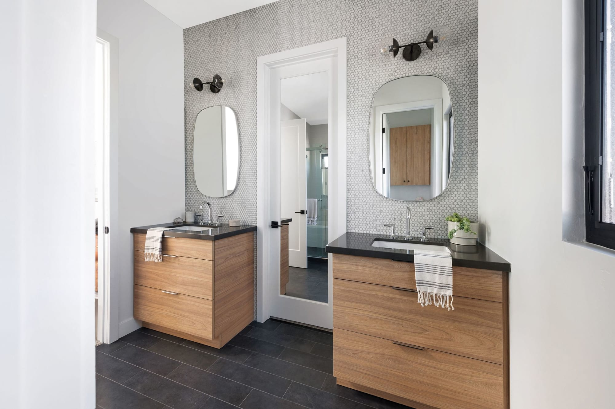 Modern Dual Vanity Bathroom