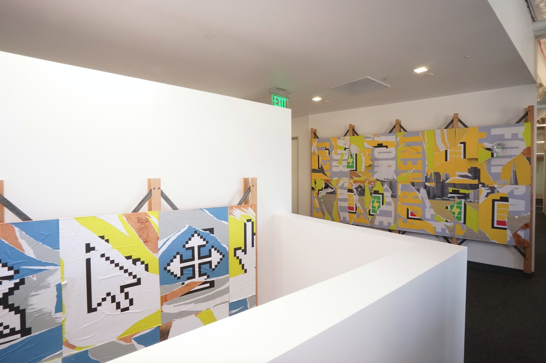 "Art & Wall Decor by ANTLRE - Hannah Sitzer seen at Google Java, Sunnyvale - Wheat pasted ""Billboards"""