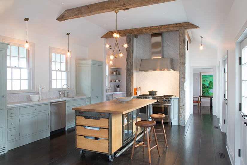 Industrial kitchen island table