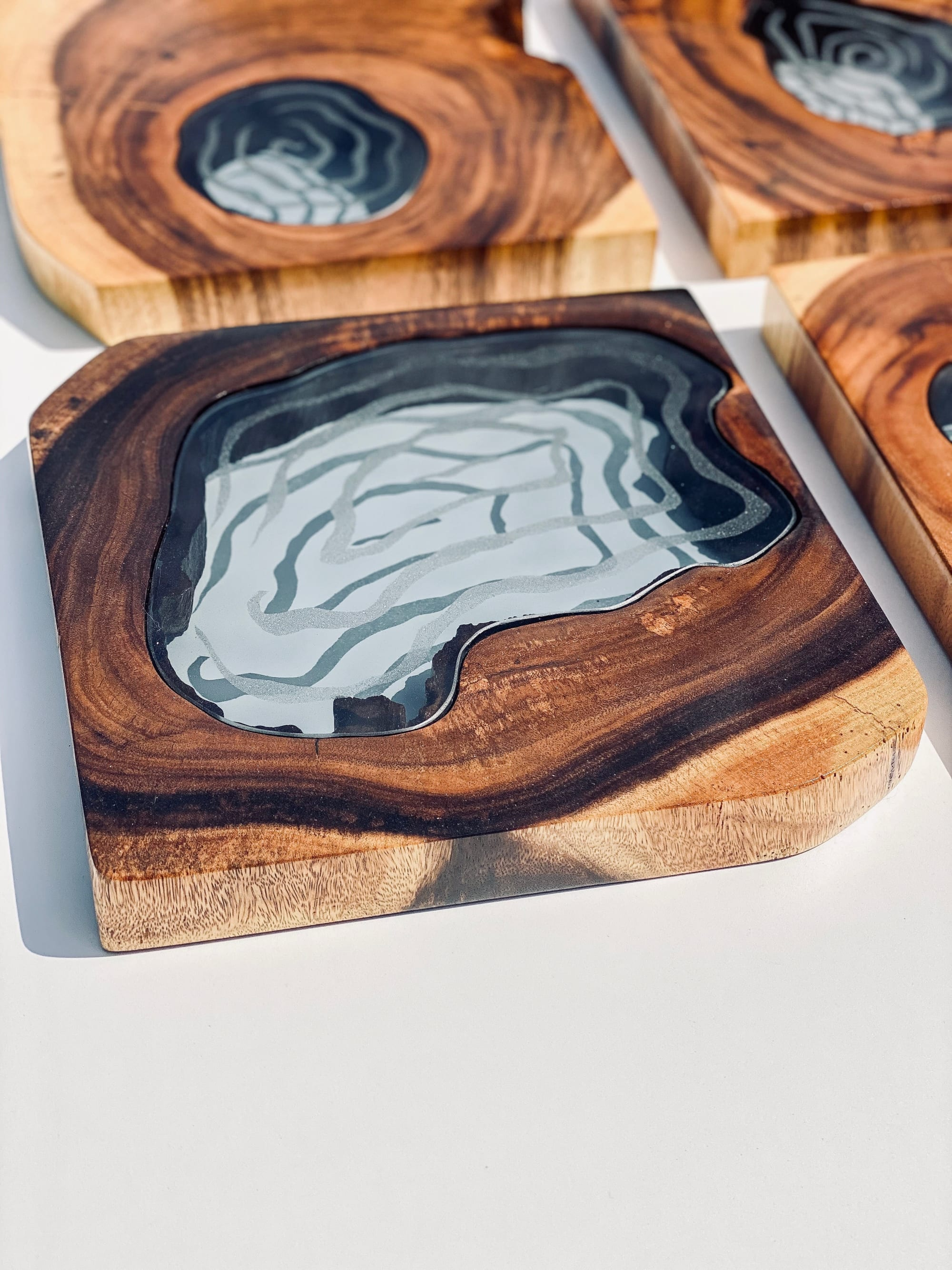 Acacia Glass Wall Art By Live Edge Lust Seen At Private Residence Fort Worth Wescover
