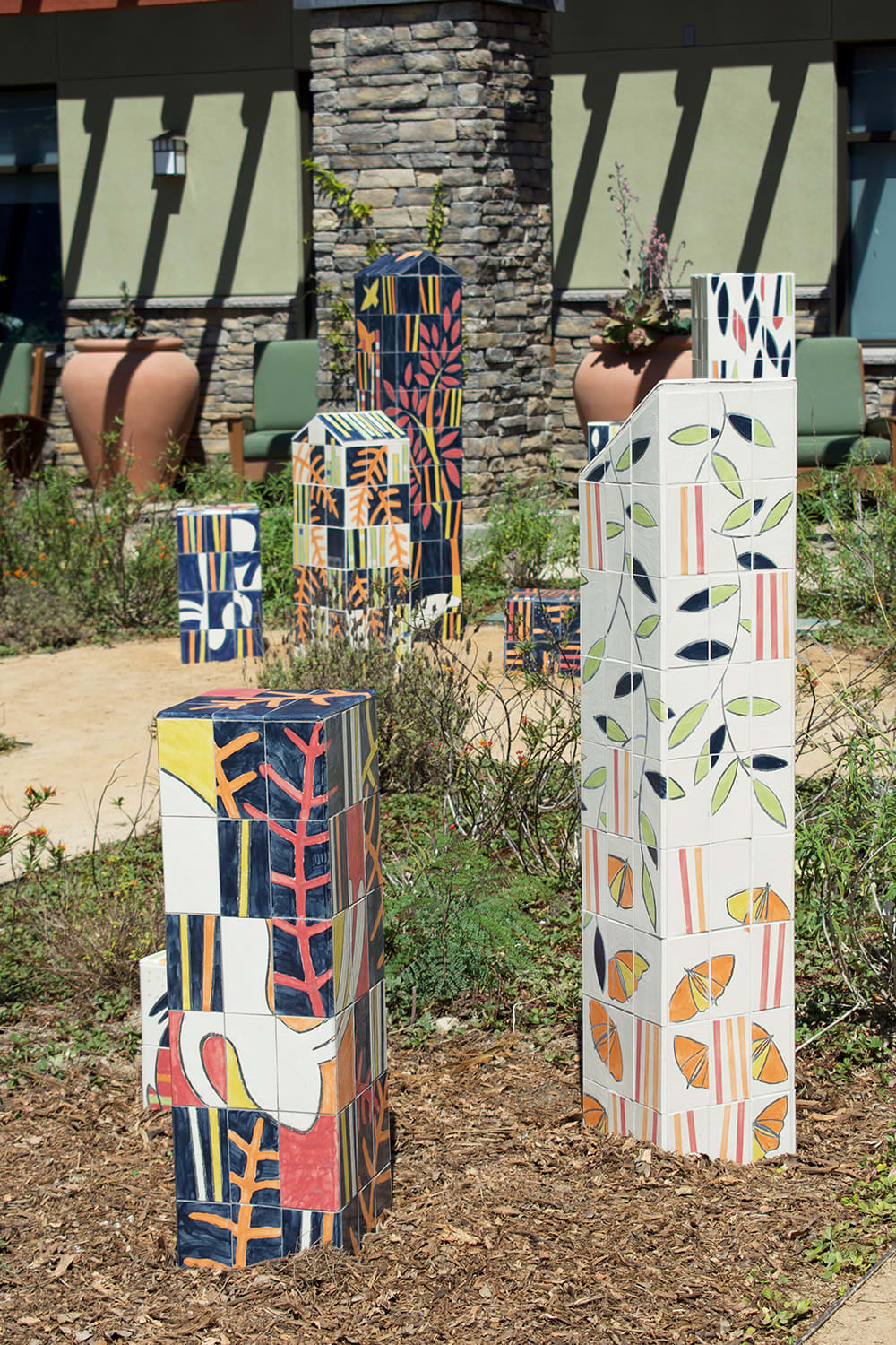 """Street Murals by Martin Webb seen at Senior Center in Central Park, Huntington Beach - """"From The Earth"""""""