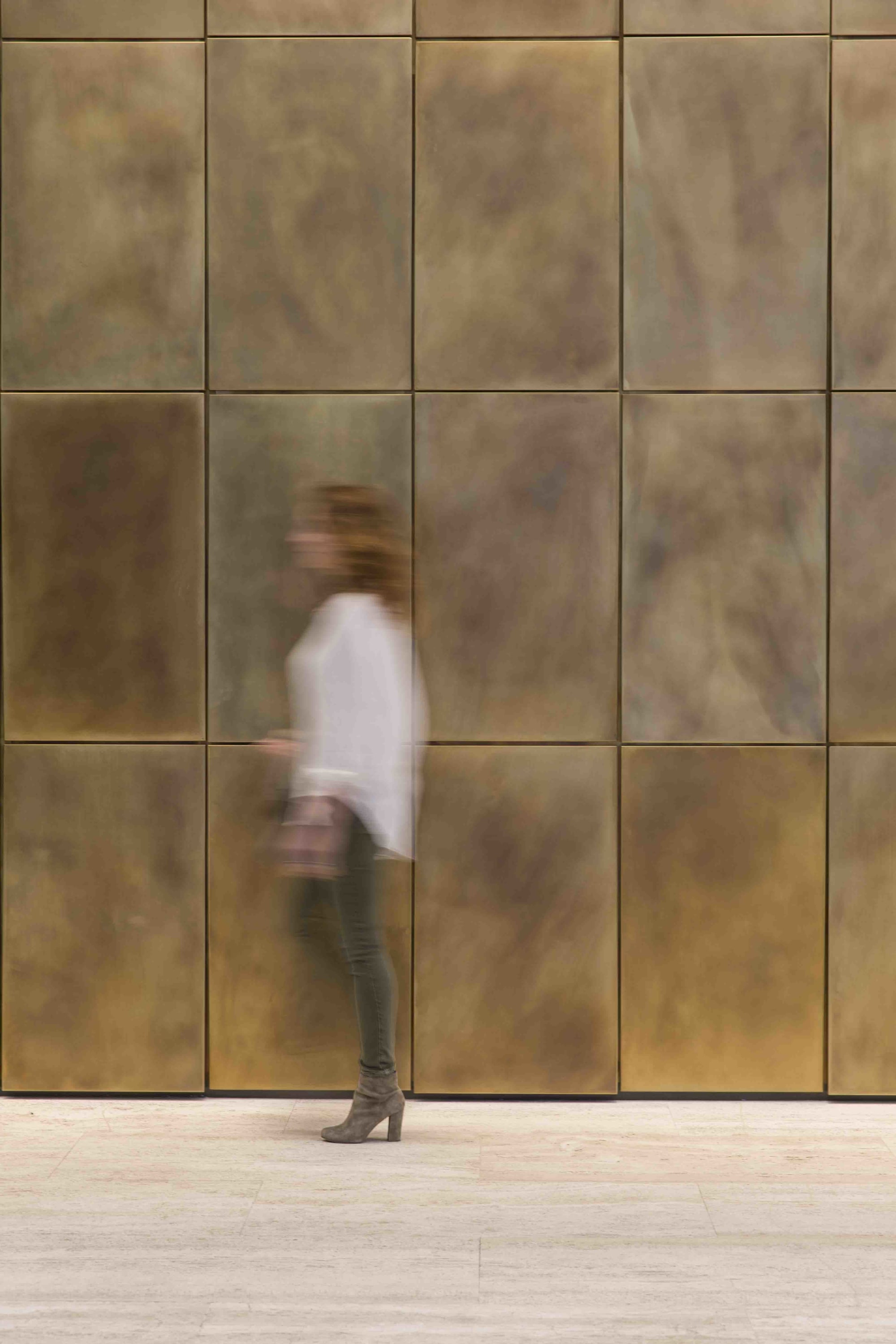 Wall Treatments by Amuneal seen at Fisher Brothers Management, New York - 605 3rd Avenue Feature Wall