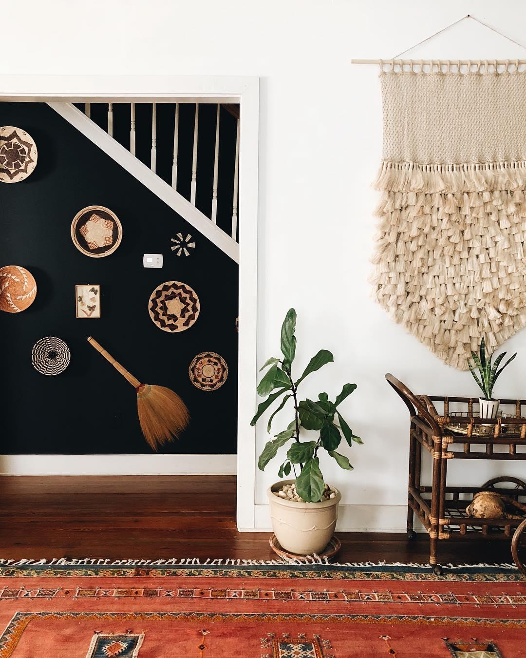 Macrame Installation by Modern Macramé by Emily Katz, Macrame Wall Hanging at Private Residence, Atlanta, GA