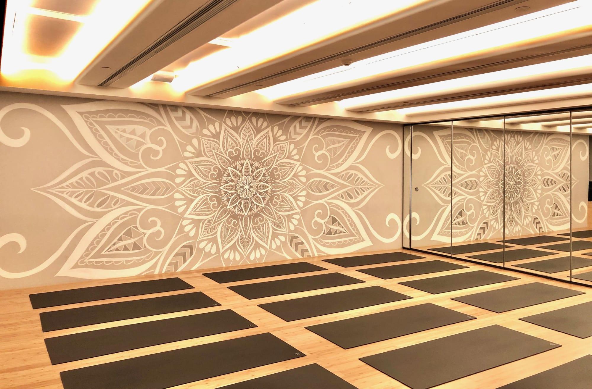 White mandala wall mural