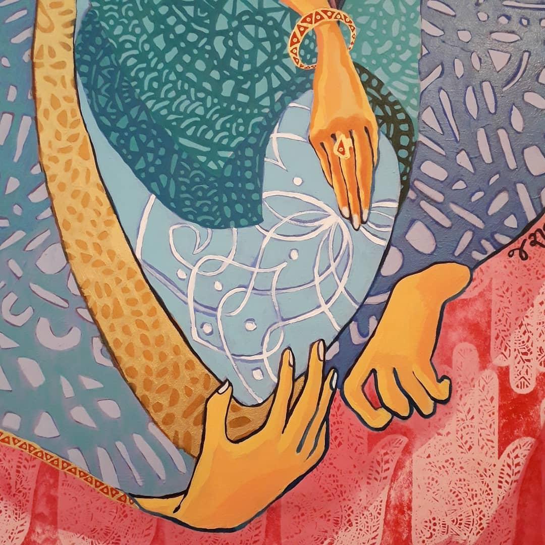 Public Mosaics by Mango Mosaics seen at Friends' Meeting House, Manchester - Guardian Angel