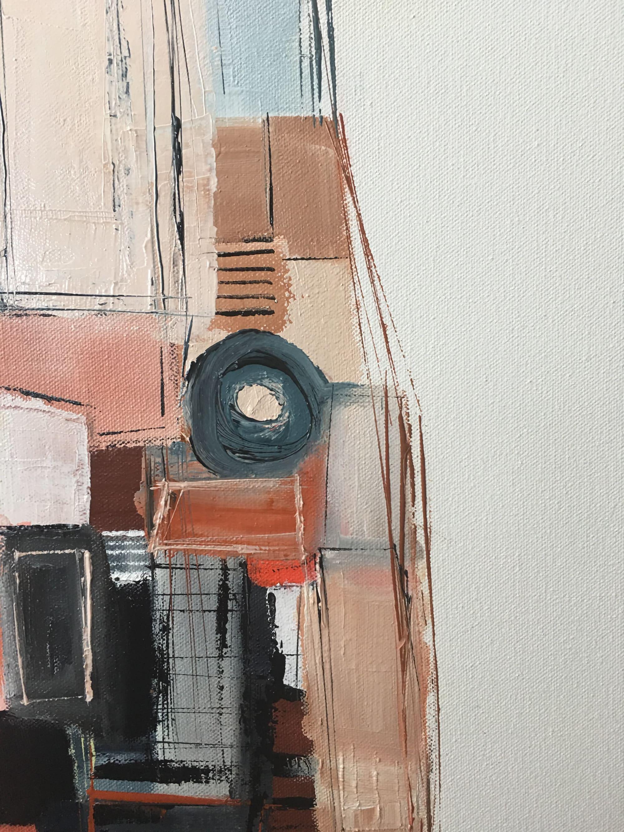 Paintings by Melanie Biehle seen at Gray Sky Gallery, Seattle - Inner Workings