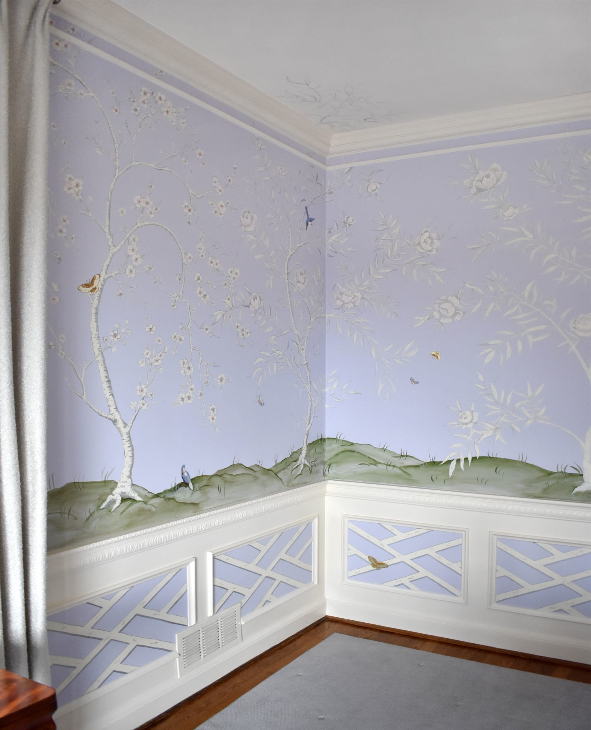 Murals by Nicolette Atelier seen at Private Residence, Washington - Lavender Chinoiserie Mural