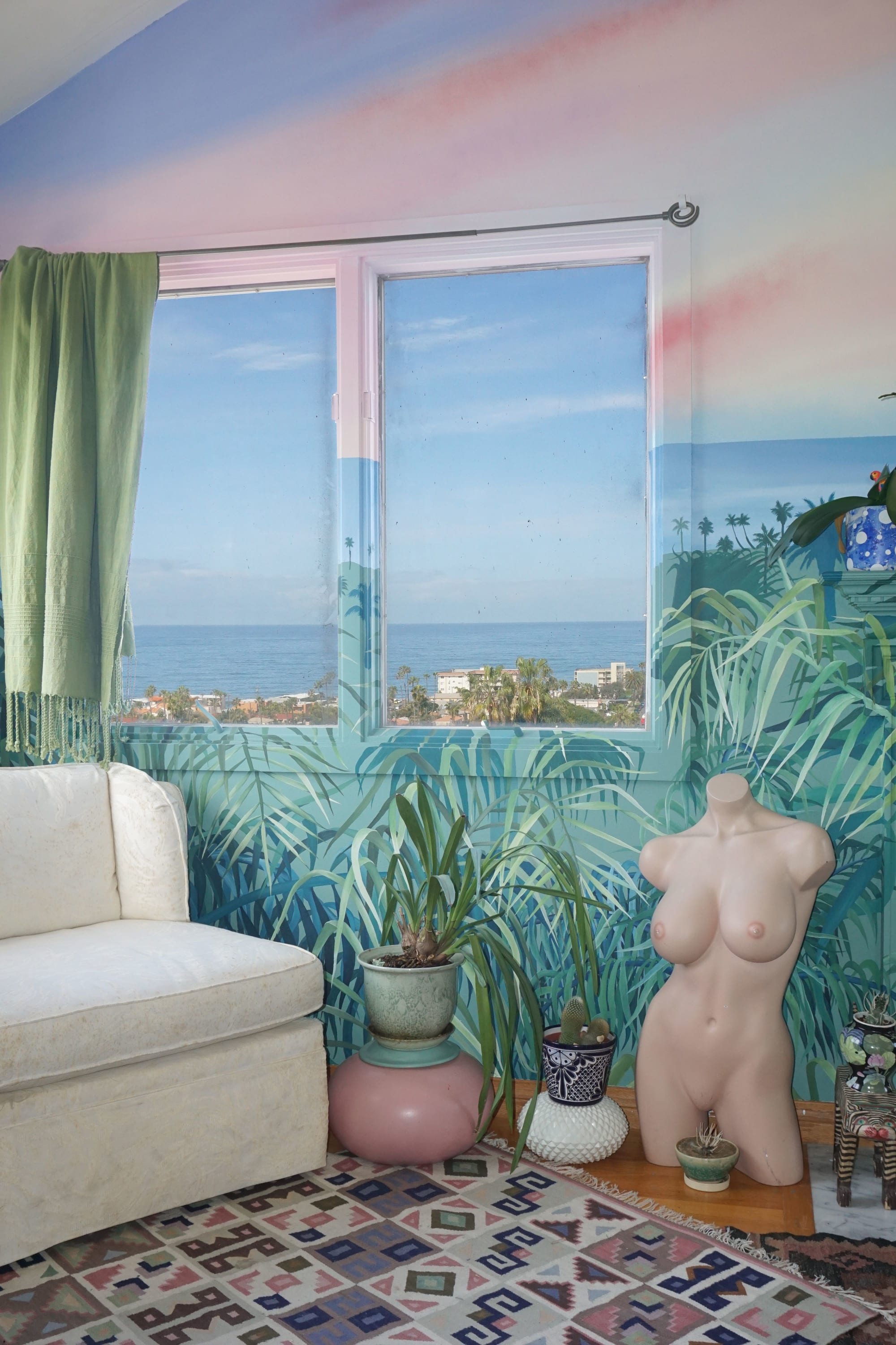 Murals by Celeste Byers seen at Private Residence, San Diego - SUNSETROOM