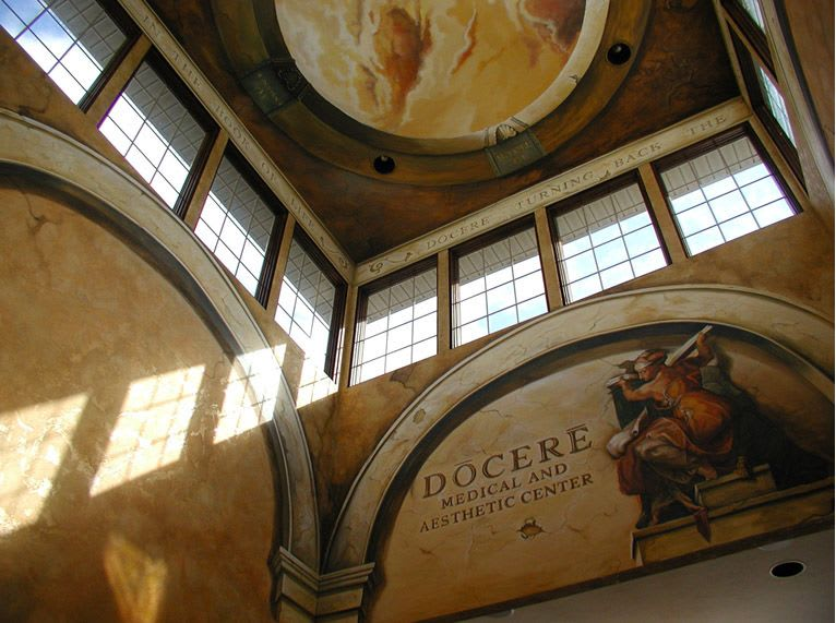 Murals by Nicolette Atelier seen at Docere Medical Spa & Laser Center, Strongsville - Italian Illusionary Ceiling Painting and Fresco Walls