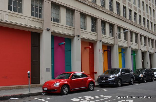 Murals by Leah Rosenberg seen at 180 New Montgomery St, San Francisco - Local Color