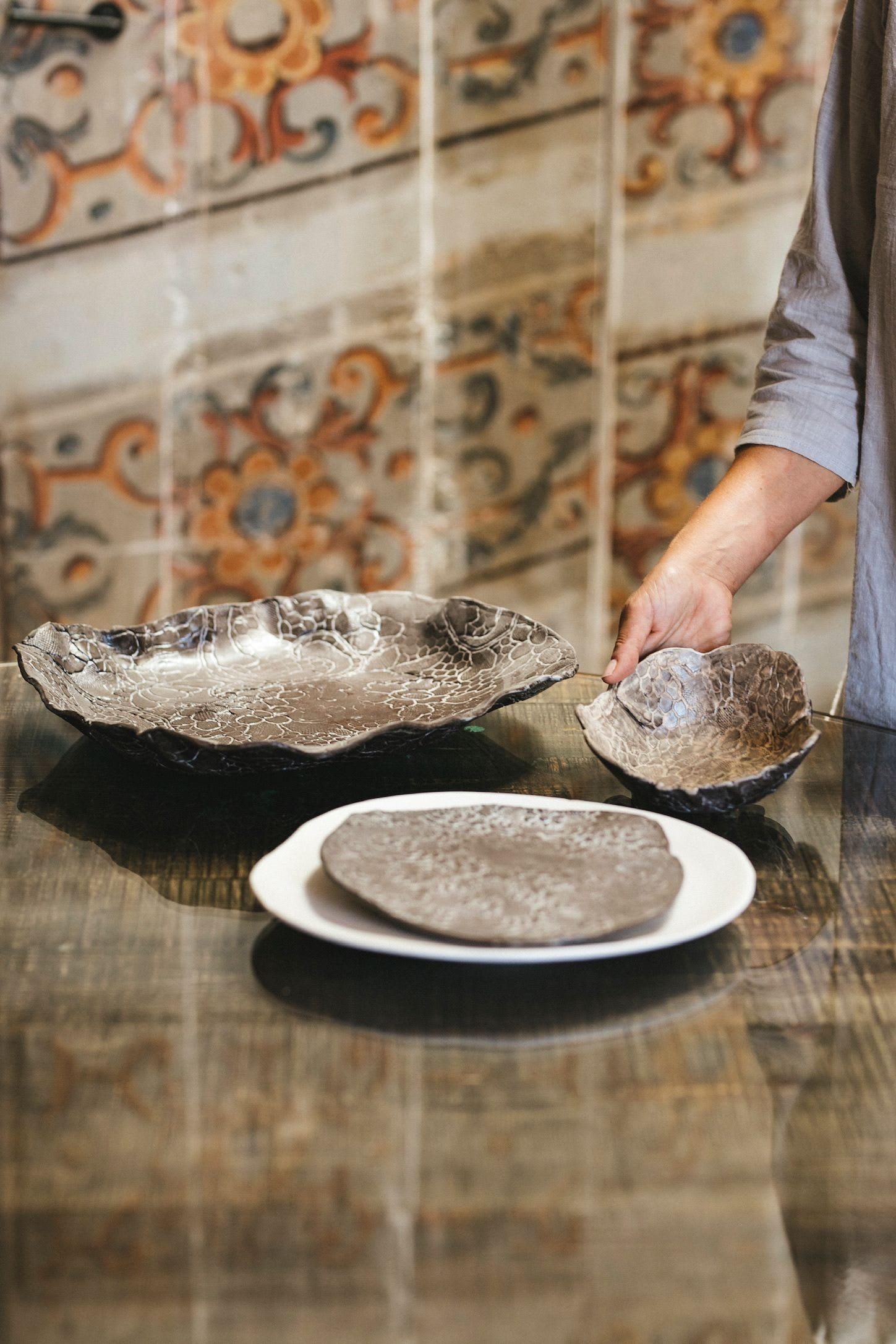 Hand Shaped Textured Earthy Plate