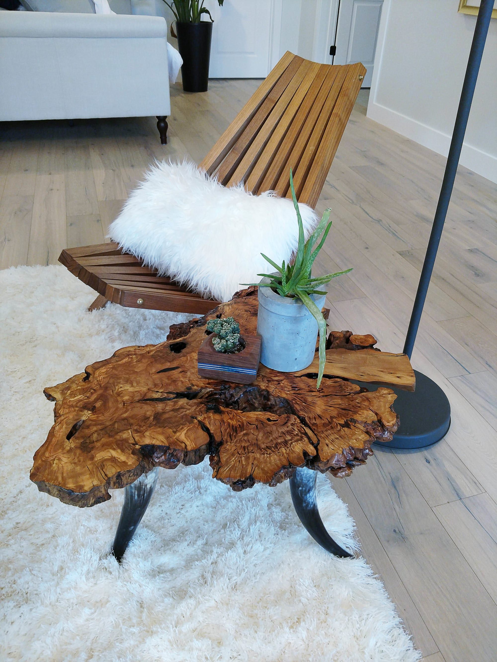 Live Edge Cross Section Side Table