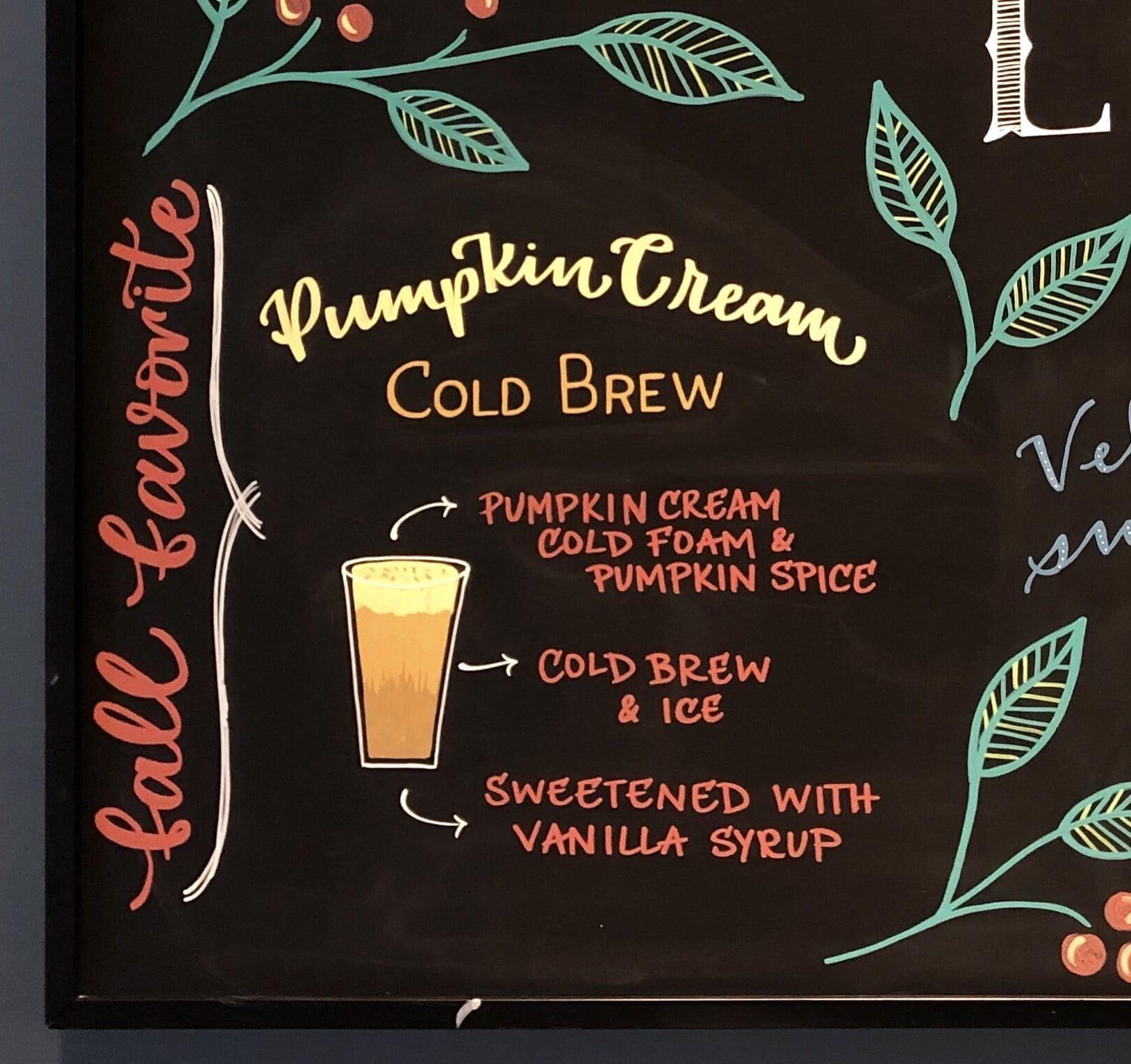 Signage by YQ Design seen at Starbucks, Queens - Chalkboard Art