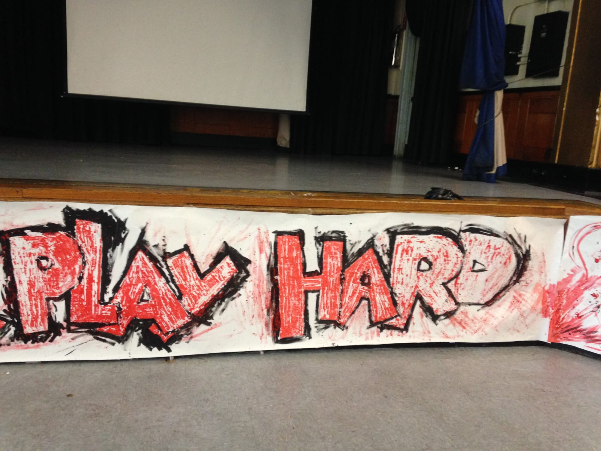 Murals by Rich T. seen at Harlem, New York - Work Hard, Play Hard