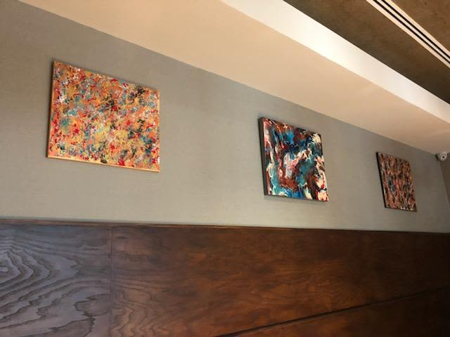 Paintings by Soulscape Art seen at Boi Na Braza Brazilian Steak House, Irving - Art on View