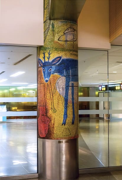 "Public Mosaics by Joanne Hammer at Seattle-Tacoma International Airport, Seattle - ""The Naturalist's Day"""