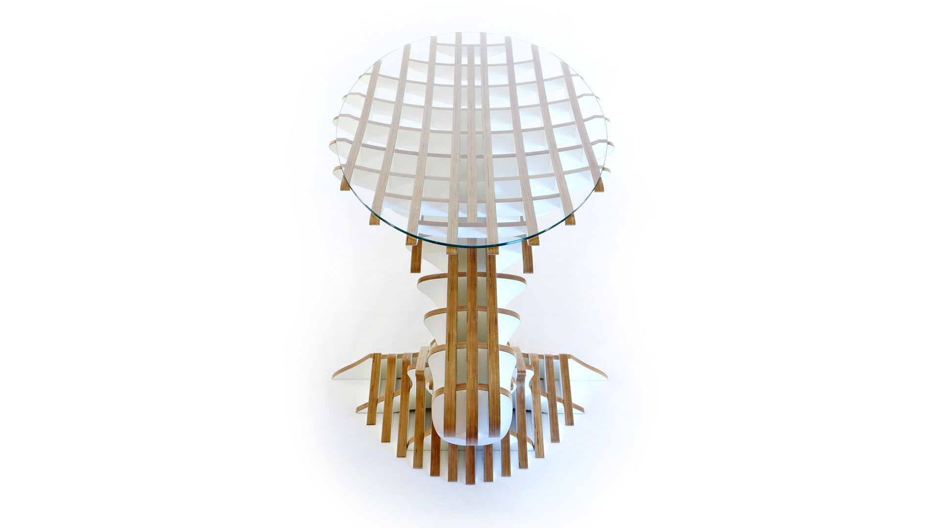 Tables by Peter Qvist seen at Private Residence, København - One Balance Desk