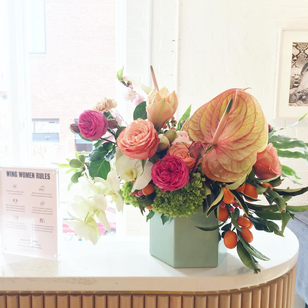 Floral Arrangements by Sachi Rose Floral Design seen at The Wing Georgetown, Washington - Floral Design