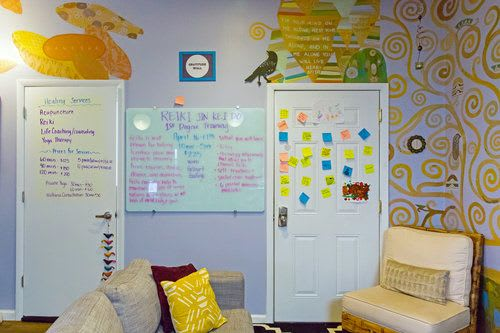 Murals by Emily Herr (HerrSuite) seen at Be Here Now Yoga Healing & Wellness, Washington - BHNY Tree of Life