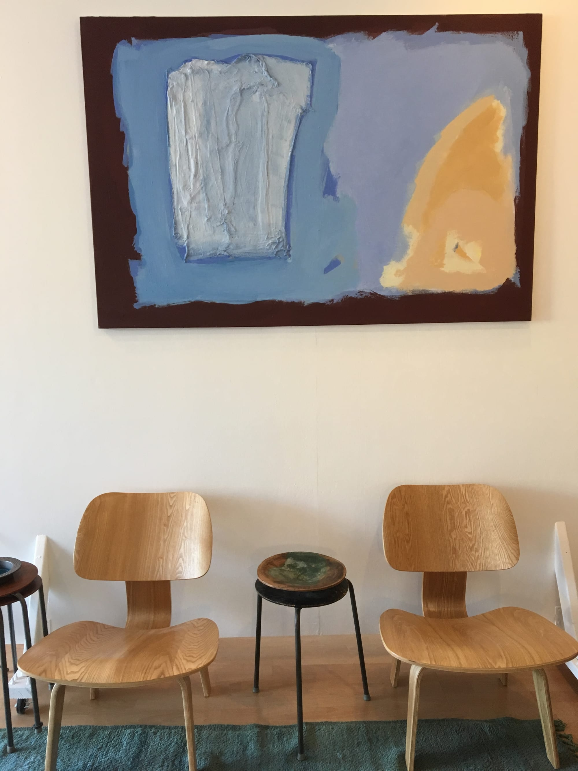 Paintings by Sara Marlowe Hall seen at Private Residence, Manhattan Beach - Sun And The Sea - A Conversation