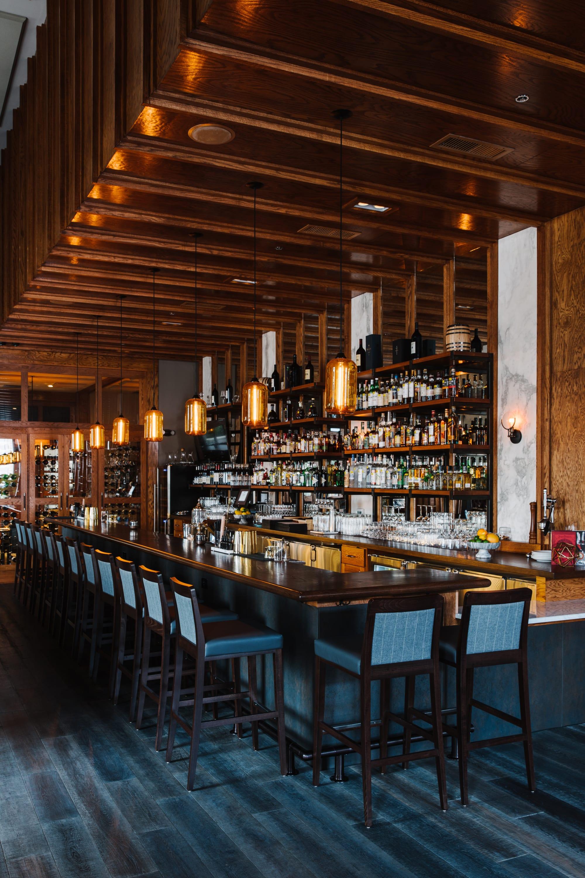 Pendants by Niche Modern seen at Oak Steakhouse, Charlotte - Pod Pendant