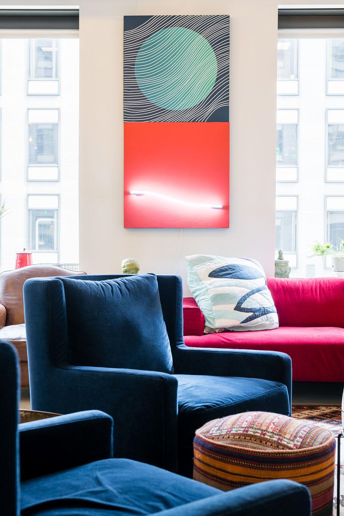 Paintings by Erik Otto seen at Mindspace San Francisco, San Francisco - Dawn Noon Dusk
