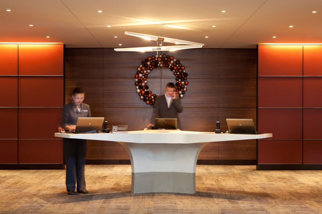 Furniture by Concreteworks seen at Grand Hyatt San Francisco, San Francisco - Reception Desk