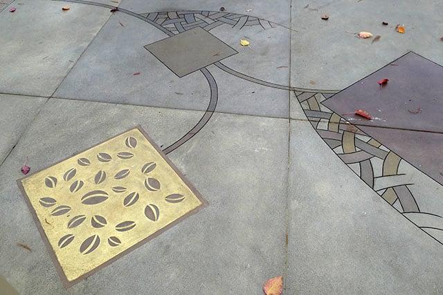 """Street Murals by Martin Webb seen at Santa Rosa Plaza, Santa Rosa - """"Seed"""""""