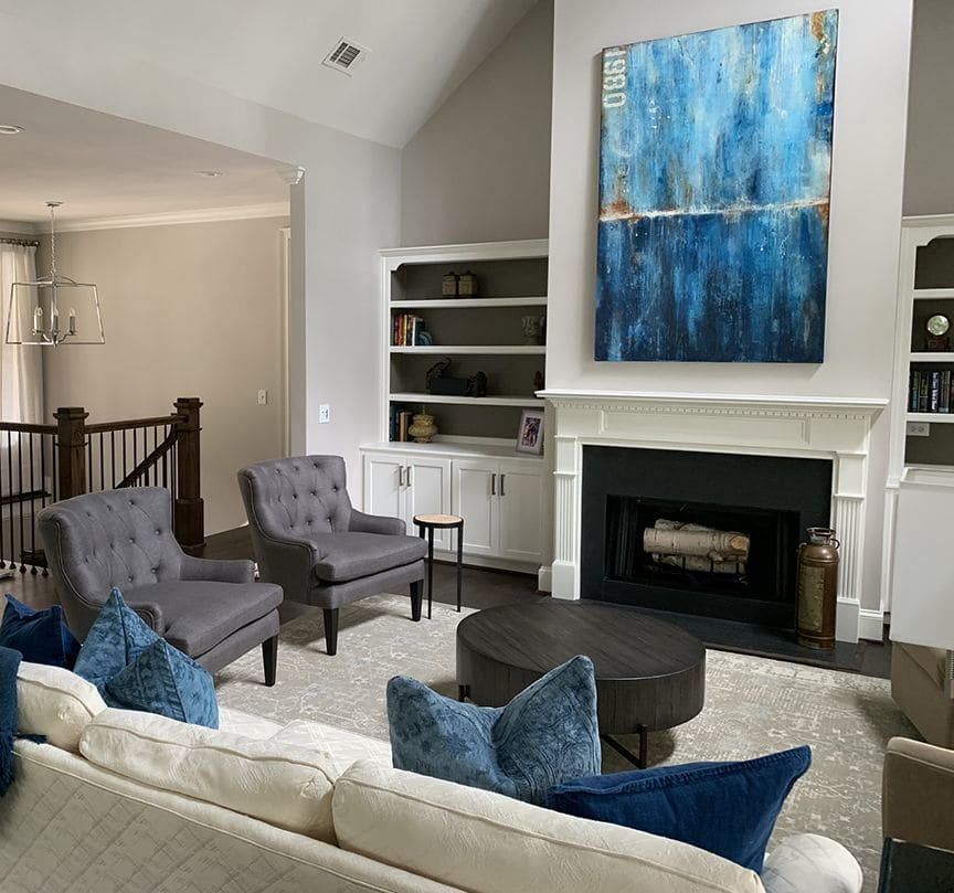 Paintings by ERIN ASHLEY seen at Private Residence - Custom paintings for residence