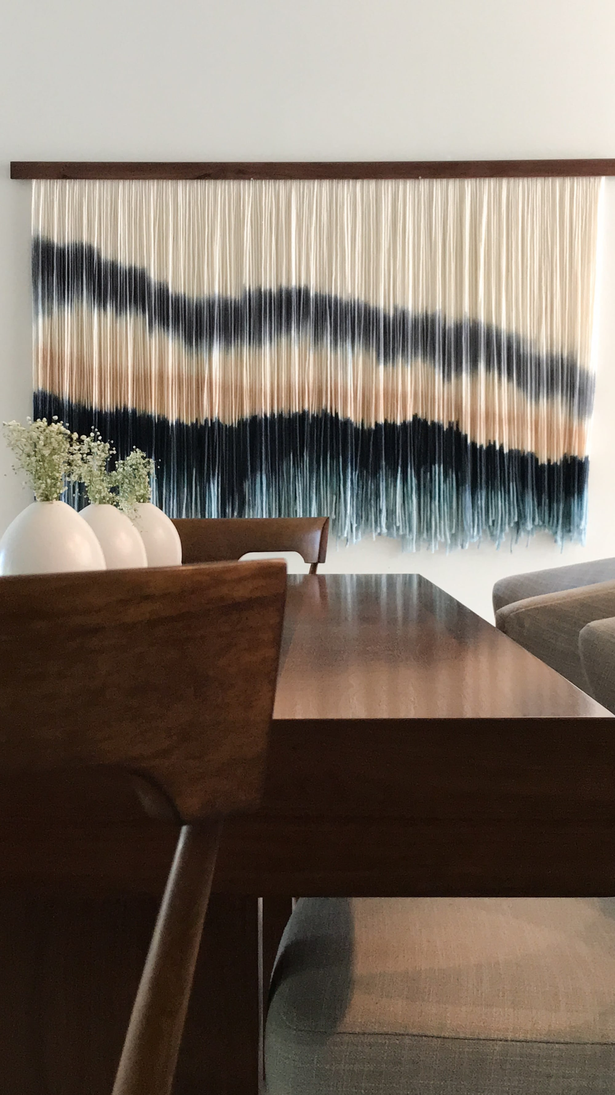 "Macrame Wall Hanging by Vita Boheme Studio seen at Private Residence, Delray Beach - ""La Laguna"""