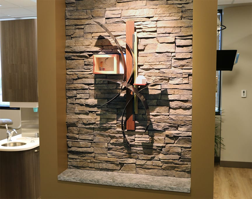 Sculptures by Craig Robb seen at Mountain Range Dentistry, Westminster - Mountain Range Dentistry